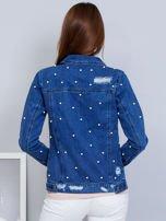Kurtka jeansowa niebieska z perełkami                                  zdj.                                  2