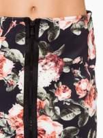 Kwiatowa ołówkowa spódnica two tone z zamkiem
