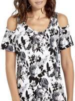Kwiatowa sukienka cut out shoulder