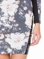 Kwiatowa sukienka modułowa z panelami ze skóry                                  zdj.                                  6