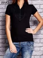 LIU JO Czarna koszula z koralikową aplikacją                                  zdj.                                  1