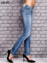 LIU JO Niebieskie spodnie jeansowe marble denim                                  zdj.                                  2
