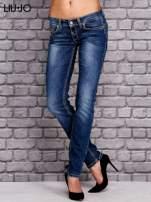 LIU JO Niebieskie spodnie jeansowe z błyszczącymi aplikacjami                                  zdj.                                  1