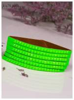 LOLITA Zielona bransoletka skórzana WRAP kryształki cyrkonie BLOGERS HIT                                  zdj.                                  1