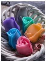 LaQ Mydełko Kwiat róży - różowy / Zapach - truskawka BEZ SLS i SLES                                  zdj.                                  3