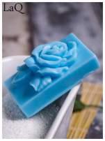 LaQ Mydełko Róża w prostokącie - niebieski / Zapach - wata cukrowa BEZ SLS i SLES                                  zdj.                                  5