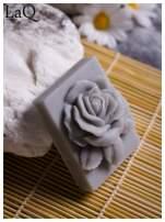 LaQ Mydełko Róża w prostokącie - szary / Zapach - wata cukrowa BEZ SLS i SLES                                  zdj.                                  5