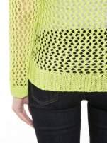 Limonkowy siatkowy sweter                                  zdj.                                  8