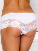 Majtki szorty damskie z koronką 2-pak biało-miętowe                                  zdj.                                  3
