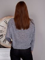 Melanżowa nietoperzowa bluzka szara                                  zdj.                                  2