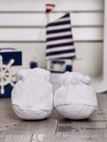 Miękkie buciki dziecięce z ozdobnym misiem białe                                  zdj.                                  4