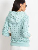 Miętowa bluza w marynarskie motywy                                  zdj.                                  2