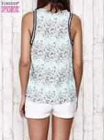 Miętowa bluzka koszulowa w łączkę                                  zdj.                                  5