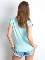 Miętowy t-shirt Vibes                                  zdj.                                  2