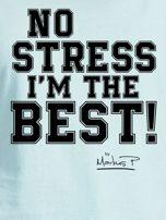 Miętowy t-shirt damski I'M THE BEST! by Markus P                                  zdj.                                  2