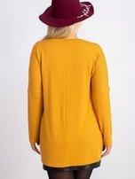 Musztardowa bluzka plus size Gracie                                  zdj.                                  2