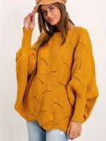 Musztardowy sweter Poncho                                  zdj.                                  1