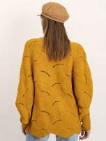Musztardowy sweter Poncho                                  zdj.                                  2