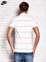 NIKE Biała koszulka polo męska w paski                                  zdj.                                  3