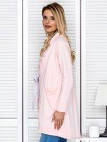 Narzutka damska z wiązaniem różowa                                  zdj.                                  5