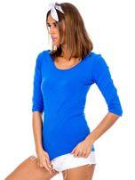 Niebieska bluzka damska basic                                  zdj.                                  2