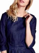 Niebieska denimowa sukienka                                  zdj.                                  6