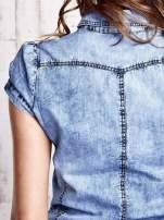 Niebieska denimowa sukienka z obniżonym stanem                                  zdj.                                  7