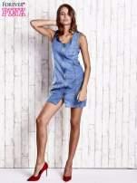 Niebieska denimowa sukienka z suwakiem                                                                          zdj.                                                                         2