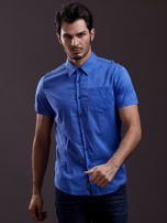Niebieska gładka koszula męska Funk n Soul                                  zdj.                                  1