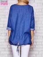 Niebieska jeansowa tunika ze sznureczkiem
