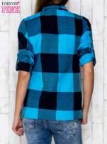 Niebieska koszula w szeroką kratę                                  zdj.                                  4