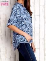 Niebieska koszula z kwiatowym nadrukiem                                  zdj.                                  3