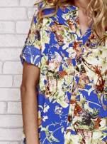Niebieska koszula z nadrukiem kwiatowym                                  zdj.                                  5