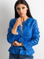 Niebieska kurtka z falbanami                                  zdj.                                  3