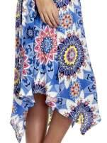 Niebieska letnia sukienka w kwiaty                                  zdj.                                  5