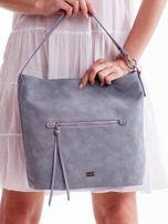 Niebieska miejska torba z kieszeniami                                  zdj.                                  3