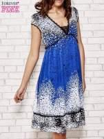 Niebieska sukienka baby doll w ciapki                                  zdj.                                  1