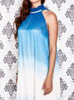 Niebieska sukienka maxi z wiązaniem na plecach                                  zdj.                                  6