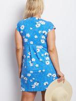 Niebieska sukienka plus size Arkansas                                  zdj.                                  2