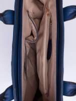 Niebieska torba damska do ręki                                  zdj.                                  4