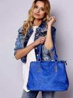 Niebieska torba miejska na ramię