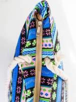 Niebieska torba plażowa w azteckie wzory                                  zdj.                                  6