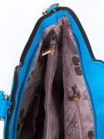 Niebieska torba ze złotymi wykończeniami                                  zdj.                                  7