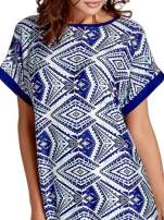Niebieska tunika w azteckie wzory                                  zdj.                                  5