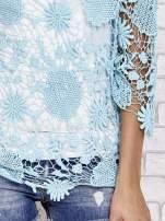 Niebieski ażurowy sweterek                                  zdj.                                  5