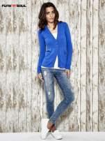 Niebieski sweter zapinany na guziki Funk n Soul                                  zdj.                                  2