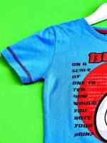 Niebieski t-shirt chłopięcy WIELKA SZÓSTKA                                  zdj.                                  3