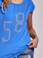 Niebieski t-shirt z numerem 58 z dżetów                                                                          zdj.                                                                         5