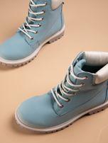 Niebieskie buty trekkingowe damskie traperki                                                                          zdj.                                                                         6