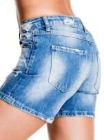 Niebieskie jeansowe szorty z dżetami                                  zdj.                                  7